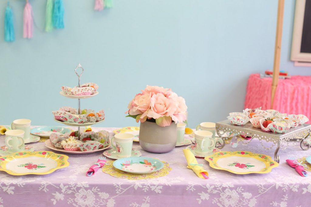 princess tea birthday party for kids