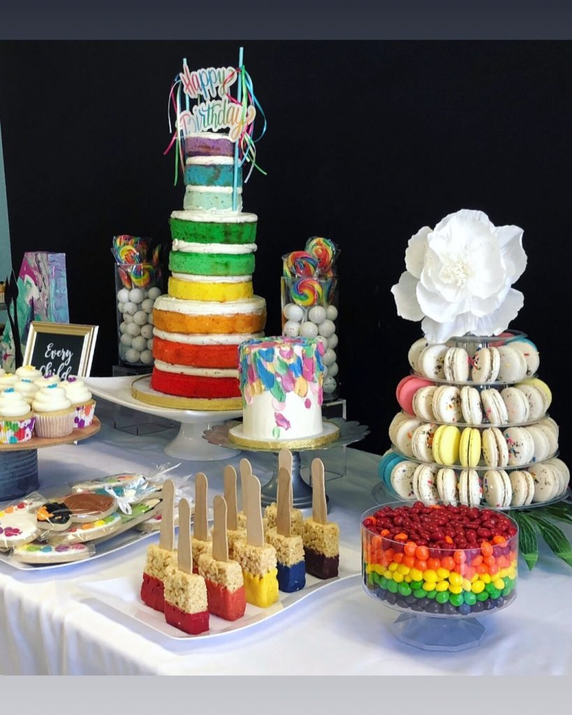 Artist Dessert Table Kids Birthday Cake