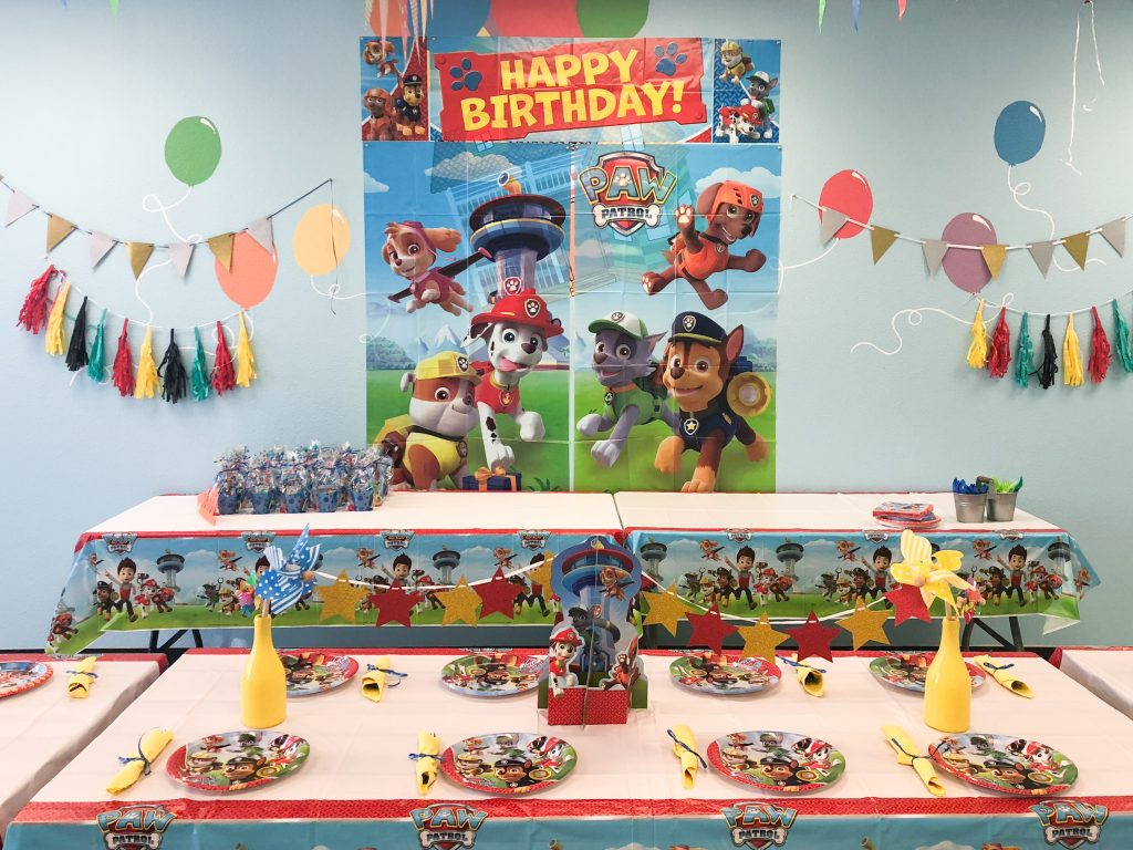Paw Patrol Kids Birthday