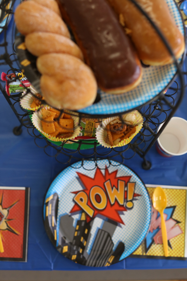 superhero donut party