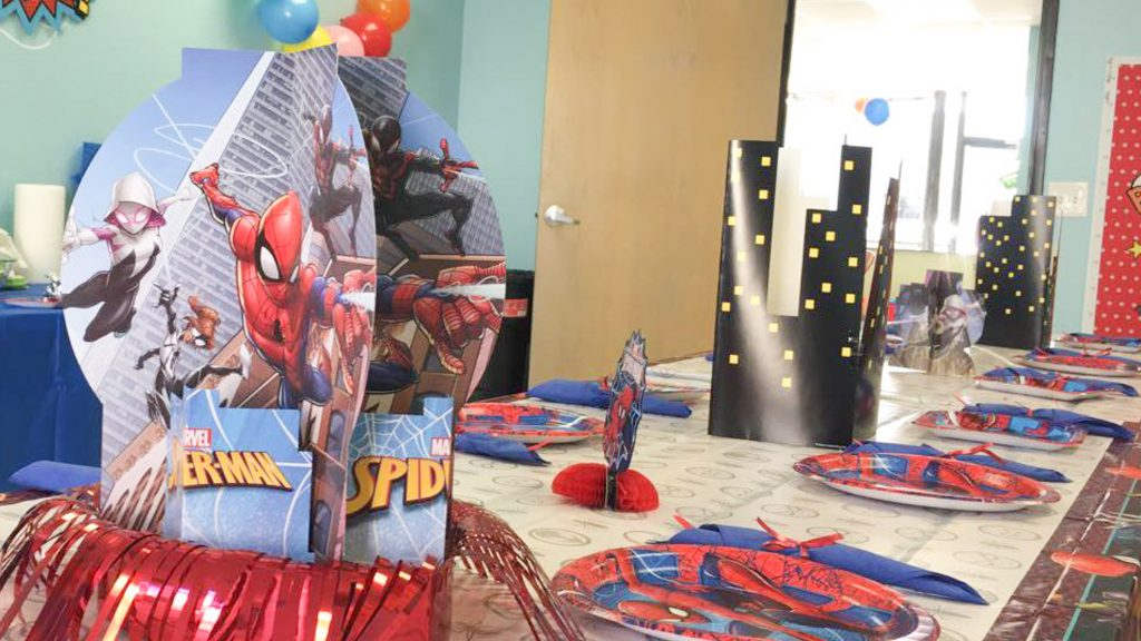 spiderman kids birthday party