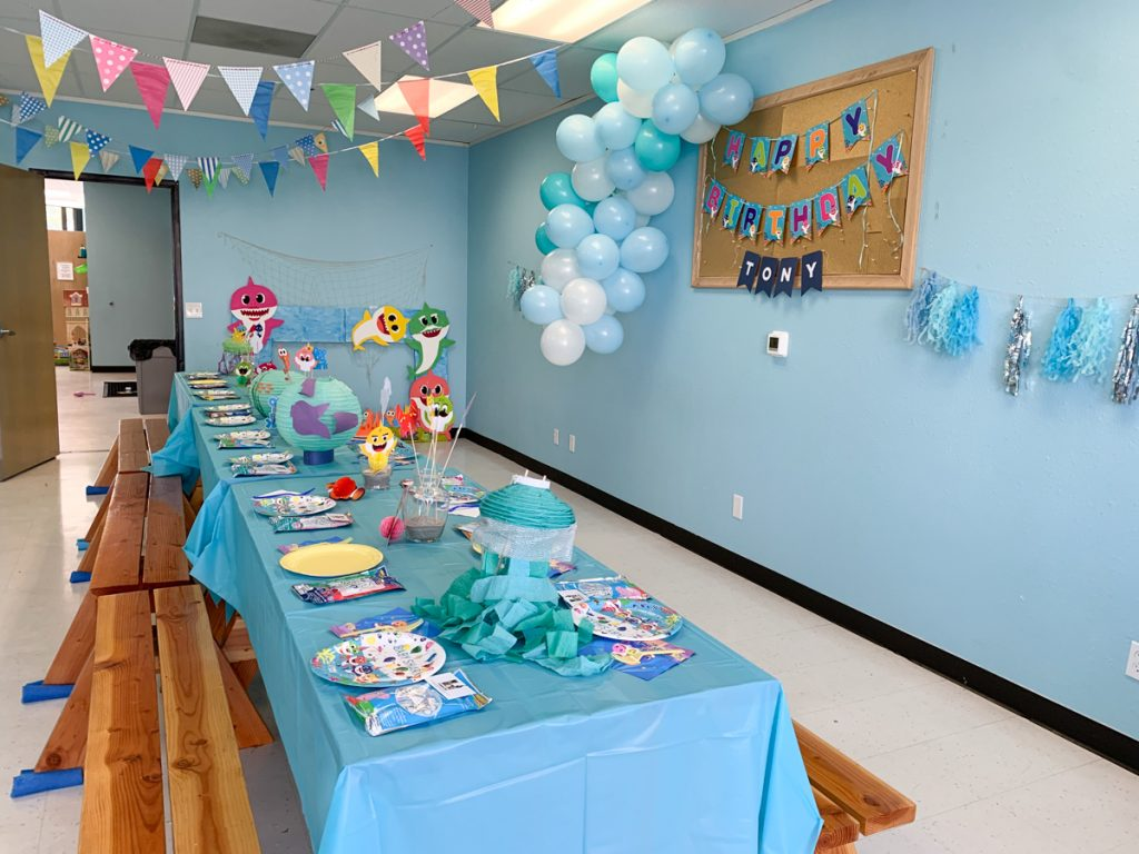 Baby Shark Themed Birthday Party