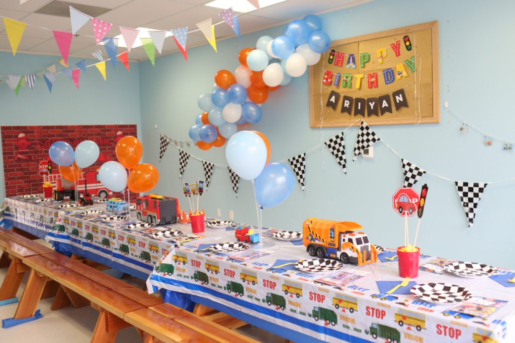 Transportation Hot Wheel Kids Birthday Party