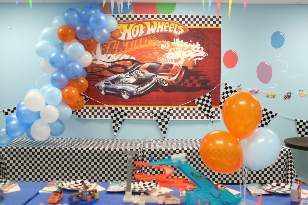 Transportation Hot Wheels Kids Birthday Party